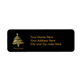 Merry Xmas! Return Address Label
