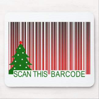MERRY XMAS scan this barcode Mouse Pads