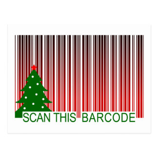 MERRY XMAS : scan this barcode Post Card