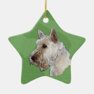 Merry Xmas Scottish Terrier (Wheaten) Christmas Ornament