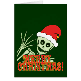 Merry Xmas Skeleton Card