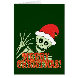 Merry Xmas Skeleton Greeting Card