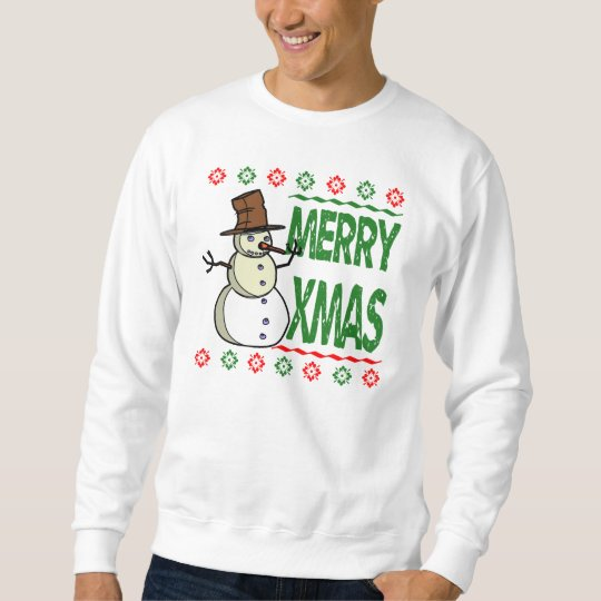 Merry Xmas Snowman Ugly Christmas Sweater
