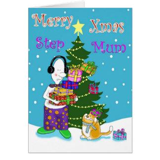 Merry Xmas Step Mum Greeting Card