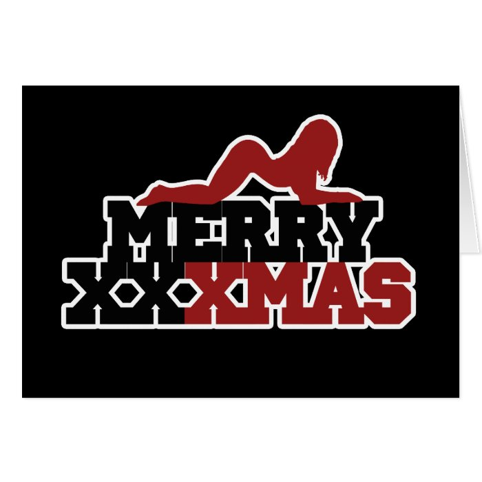 Merry XXXMas Xmas Parody Note Card