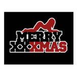Merry XXXMas Xmas Parody Postcard