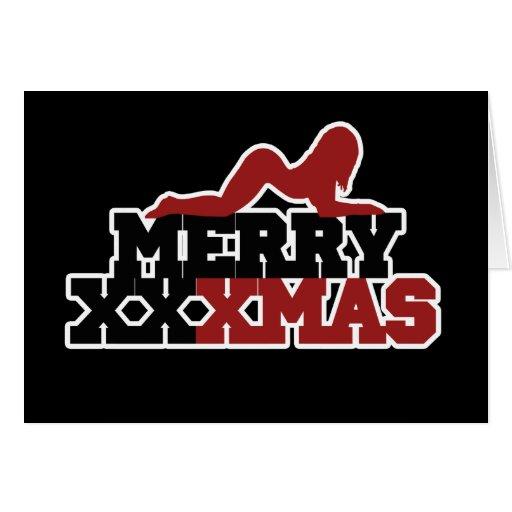 Merry XXXMas Xmas Parody Stationery Note Card