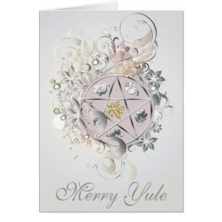 Merry Yule Pentagram Cameo Card - 2B