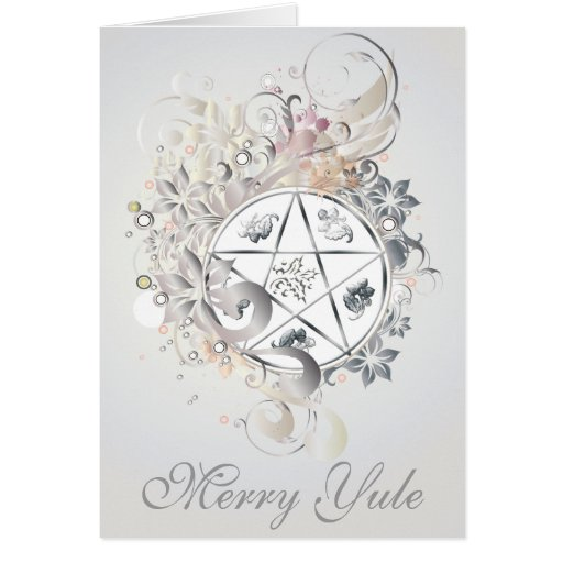 Merry Yule Pentagram Cameo Card - 3