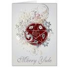 Merry Yule Pentagram Cameo Card - 3B