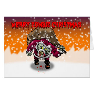 Merry Zombie Christmas Card