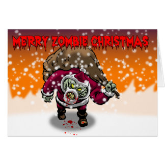 Merry Zombie Christmas Card Cards