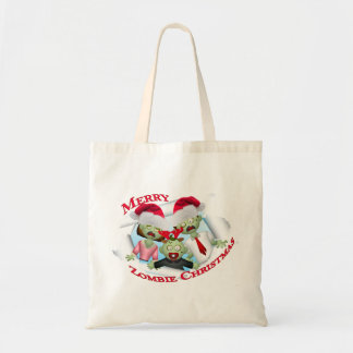 Merry Zombie Family Christmas Tote Bags