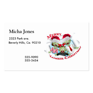 Merry Zombie Family Christmas Pack Of Standard Business Cards