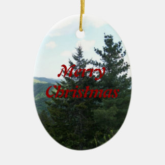 MerryChristmas Trees Christmas Ornament