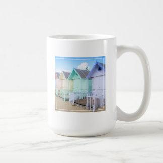 Mersea Island Beach Huts Basic White Mug