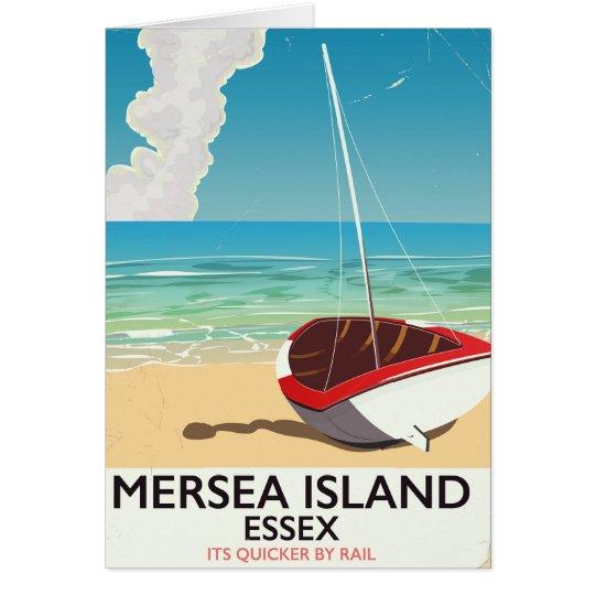 Mersea Island Essex Vintage poster Card