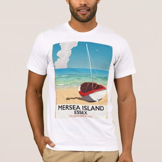 Mersea Island Essex Vintage poster T-Shirt