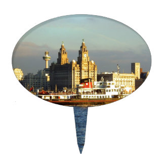 Mersey Ferry & Liverpool Waterfront Cake Pick