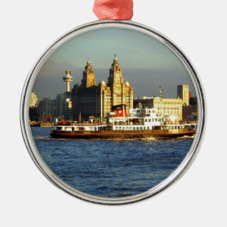 Mersey Ferry & Liverpool Waterfront Christmas Ornament