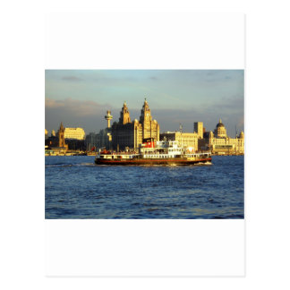 Mersey Ferry & Liverpool Waterfront Postcard