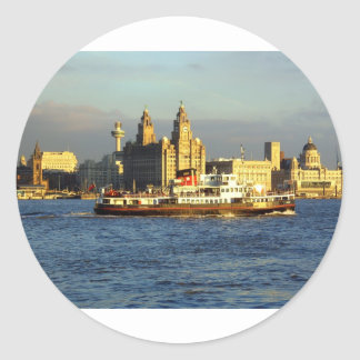 Mersey Ferry & Liverpool Waterfront Round Stickers