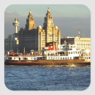 Mersey Ferry & Liverpool Waterfront Square Sticker