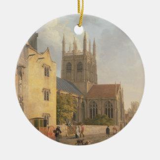 Merton College, Oxford, 1771 (oil on canvas) Christmas Ornament