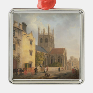 Merton College, Oxford, 1771 (oil on canvas) Christmas Ornament