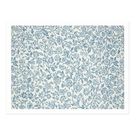 Merton, wallpaper design post card