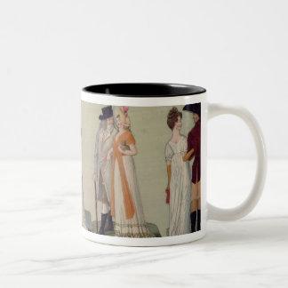 Merveilleuse...Incroyable promenading Two-Tone Coffee Mug