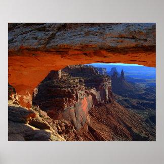 Mesa Arch at Sunrise, Utah Poster