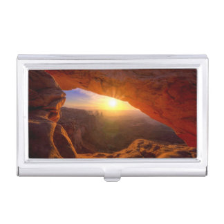 Mesa Arch, Canyonlands National Park Business Card Holder