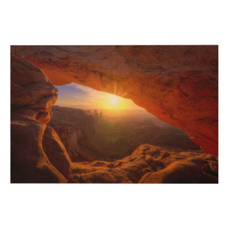 Mesa Arch, Canyonlands National Park Wood Print
