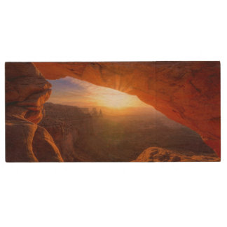 Mesa Arch, Canyonlands National Park Wood USB 2.0 Flash Drive