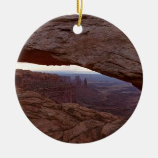 Mesa Arch I from Canyonlands National Park Round Ceramic Decoration
