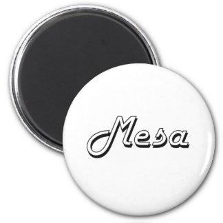 Mesa Arizona Classic Retro Design 6 Cm Round Magnet