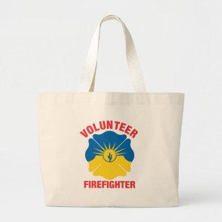 Mesa, AZ Flag Volunteer Firefighter Cross Jumbo Tote Bag