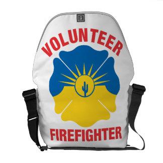 Mesa, AZ Flag Volunteer Firefighter Cross Commuter Bag