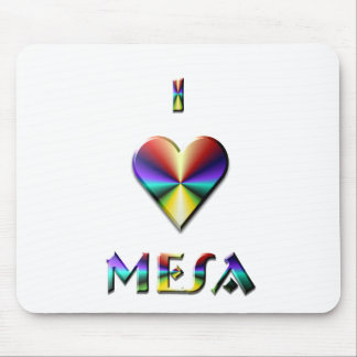 Mesa -- Brown Blue Gold Mouse Pad