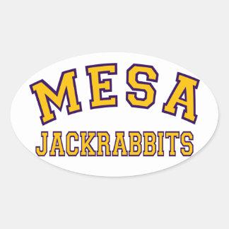 Mesa Jackrabbits Oval Sticker