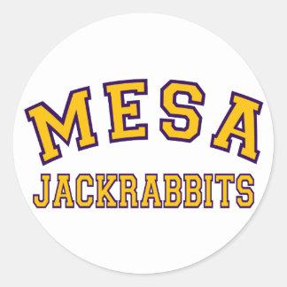 Mesa Jackrabbits Round Sticker