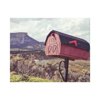 Mesa Verde and US Mailbox Canvas Print