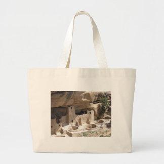 Mesa Verde Indian Dwellings Large Tote Bag