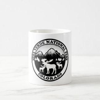 Mesa Verde Nat Park Colorado black white circle Basic White Mug