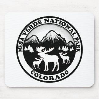 Mesa Verde Nat Park Colorado black white circle Mouse Pad