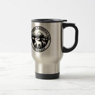 Mesa Verde Nat Park Colorado black white circle Stainless Steel Travel Mug