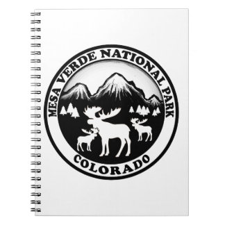 Mesa Verde Nat Park Colorado black white circle Note Books