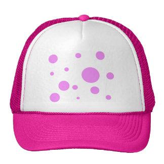 Mesh Hat with Pink Polka-Dot Design