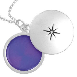 mesh purples round locket necklace